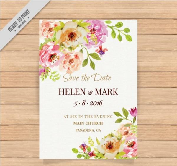 Diy Watercolor Wedding Invitation