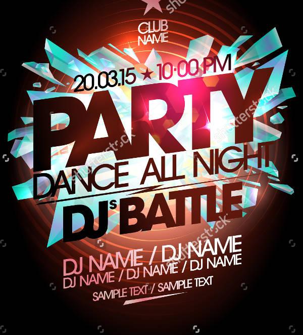 Dj Dance Concert Poster