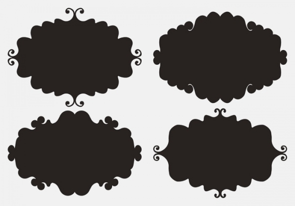 Doodle Vector Label Shapes