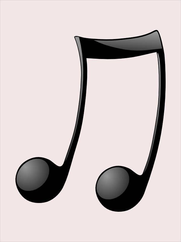 Double Note Music Clipart
