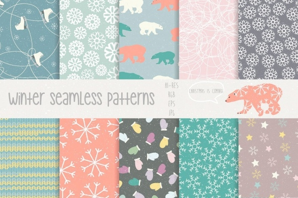 Download Cute Winter patterns