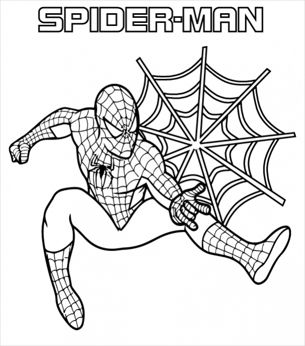 download spiderman coloring page