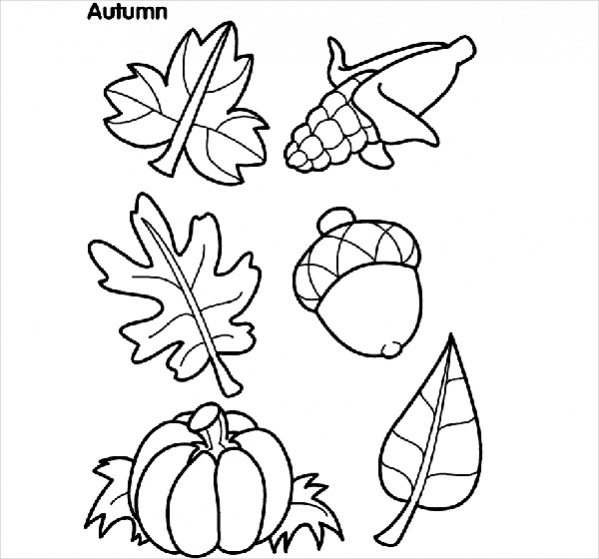 Downloadable Fall Coloring Page