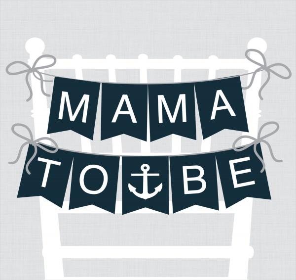 Editable Baby Shower Banner