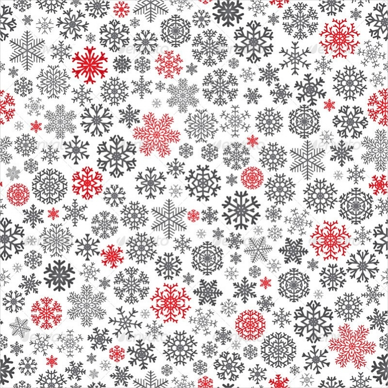 Editable Christmas Snowflake Pattern