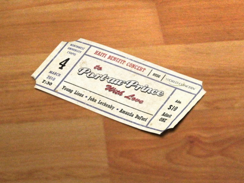 Editable Concert Ticket