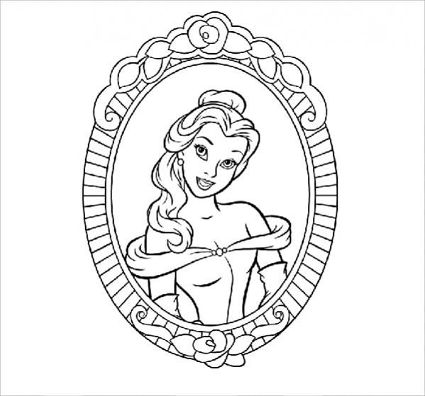 Editable Disney Coloring Page