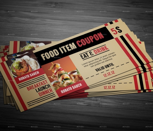 editable food coupons
