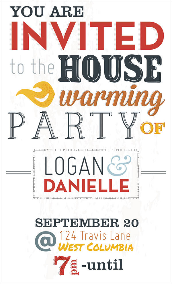 Editable Housewarming Party Invitation