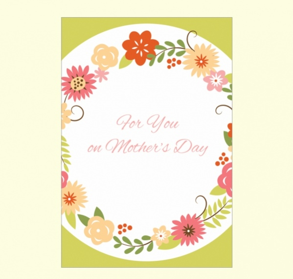 Editable Mothers Day Card