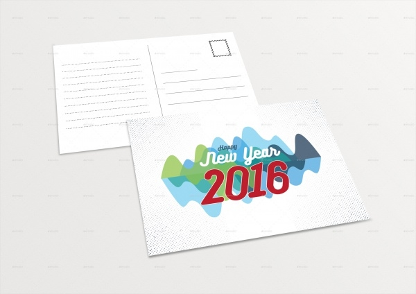 Editable New Year Postcard