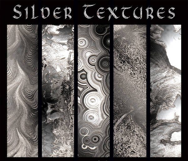 Editable Silver Textures Pack
