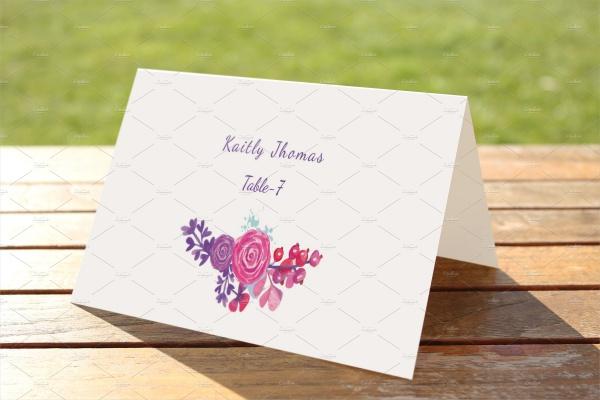 Editable Wedding Place Card