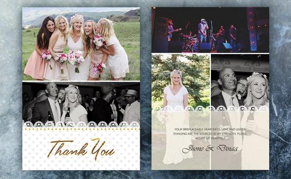 Editable Wedding Thank You CArd