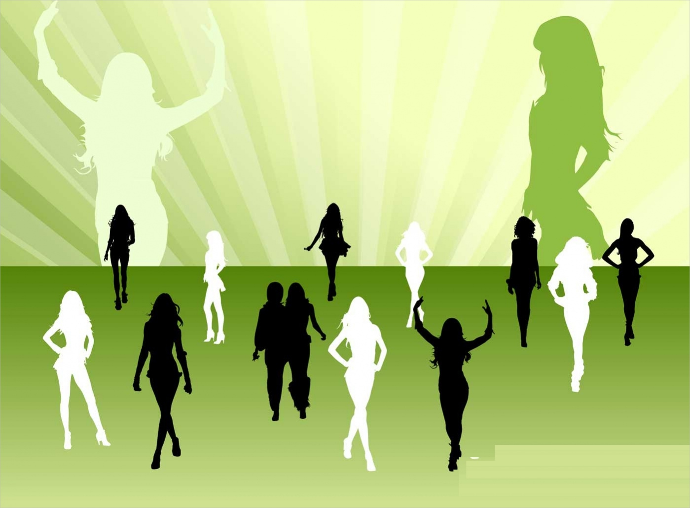 editable woman silhouette