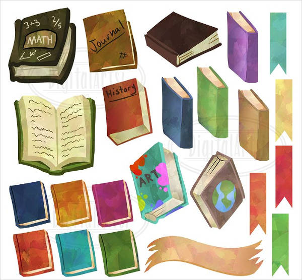 Educational Books Clipart