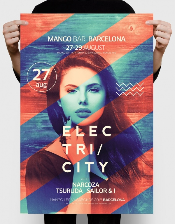 electric club party design