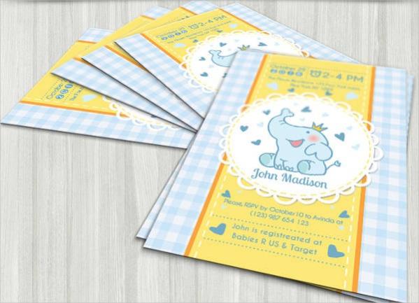 Elegant Baby Shower Card