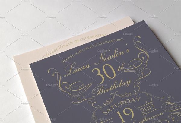 Elegant Birthday Invitations Printable