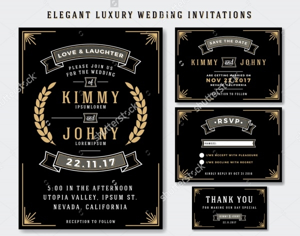 Elegant Luxury Wedding Invitation