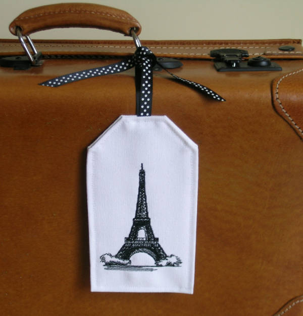 Embroidered Bag Tag