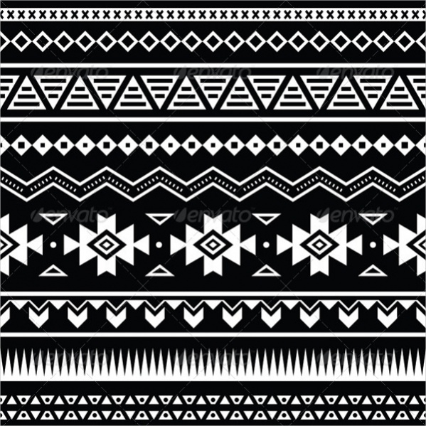 Ethnic Tribal Black and White Pattern