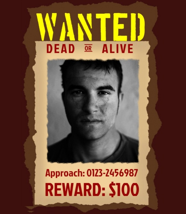 Fabulous Wanted Poster Design