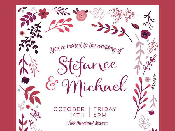 Fall Wedding Invitation Design