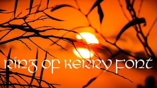 Fancy Ring Of Kerry Monogram Font