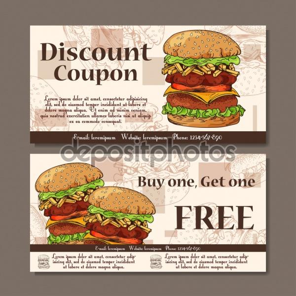 Fast Food Coupon Design