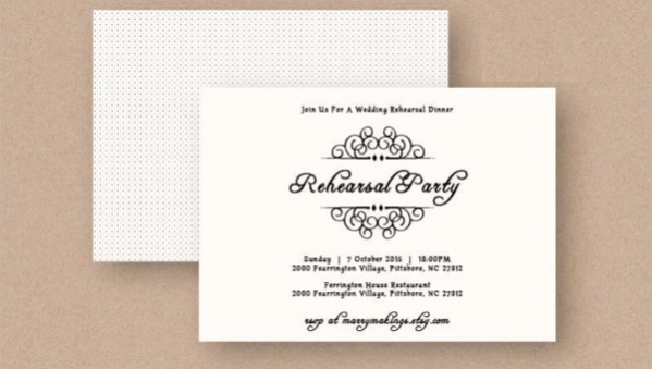 18 Elegant Rehearsal Dinner Invitations Psd Vector Eps Ai