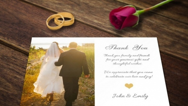 Free 13 Wedding Thank You Card Designs In Psd Vector Eps