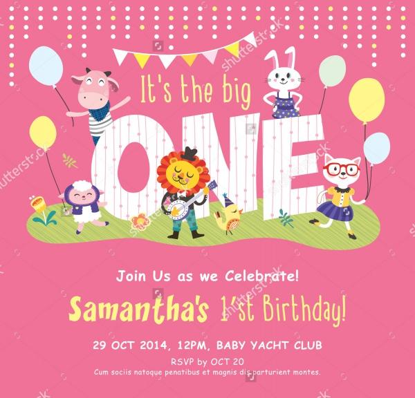First Birthday Printable Invitation