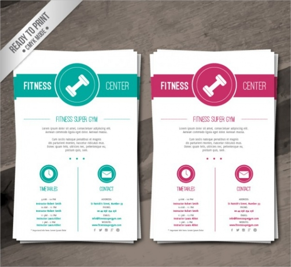 Fitness Brochure Design