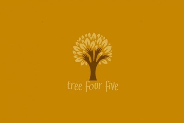 Five Hands Tree Logo