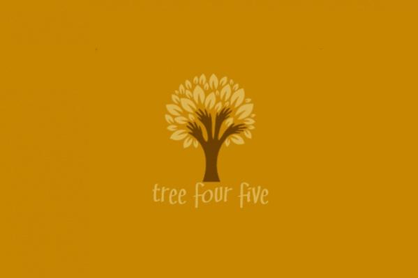Five Hands Tree Logo