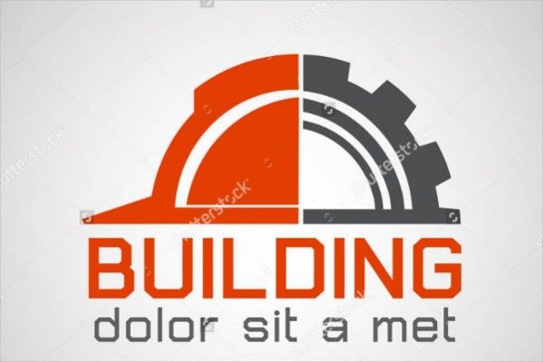 Flat Construction Logo Design