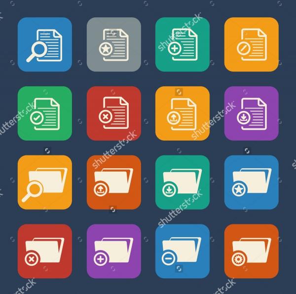Flat File Folder Icons