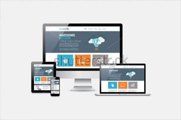 Flat Website Responsive Design