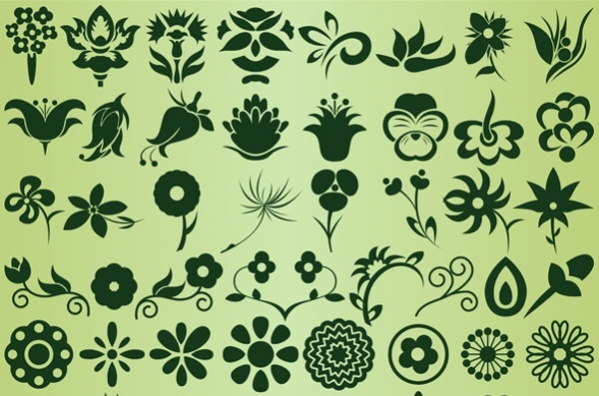 Flowers Custom Shapes