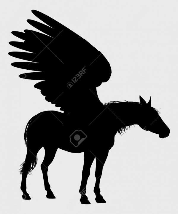 Flying Horse Silhouette