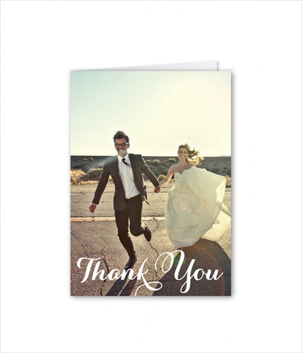 Folded Wedding Thank You Card