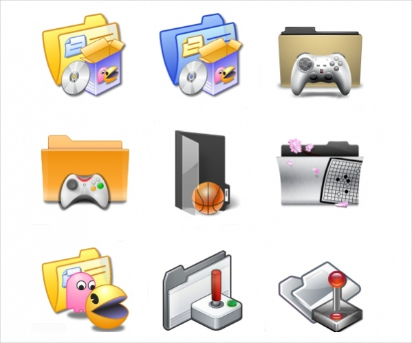 Folder Games Icons