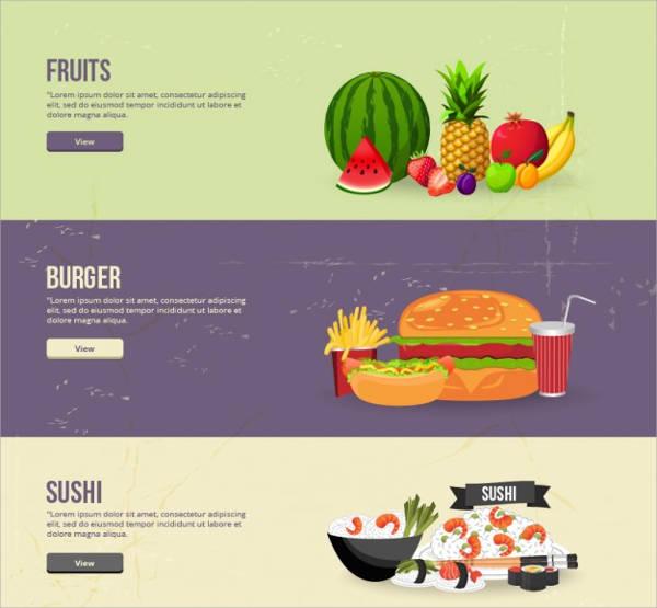 Food Banner Vector