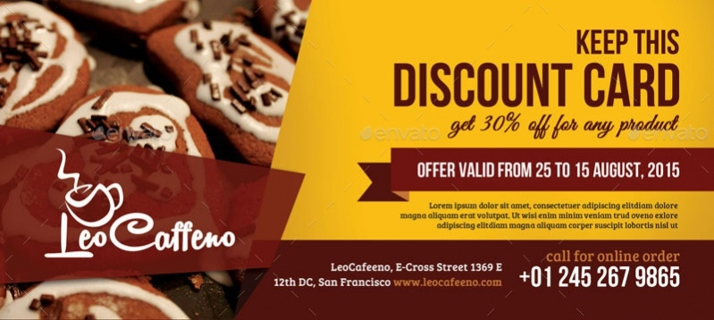 food psd coupon design