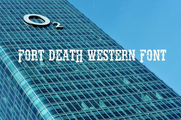 fort death western font