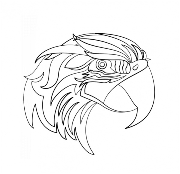 Free Abstract Parrot Coloring Page