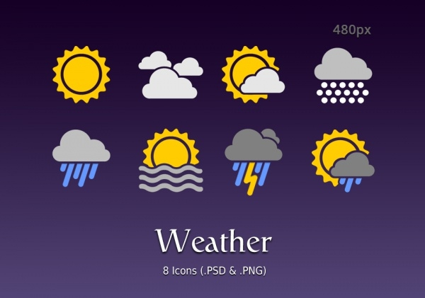 Free Android Weather Icons