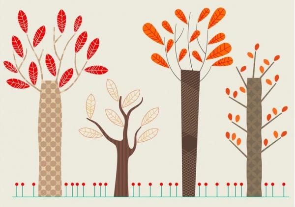 Free Autumn Tree Vector Graphics