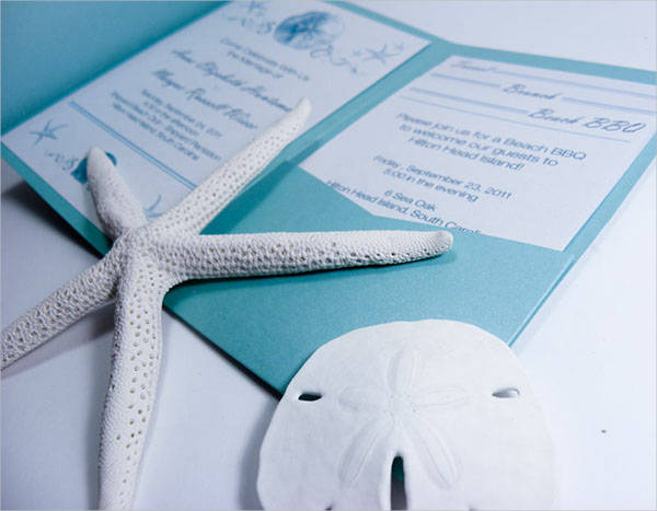 Free Beach Wedding Invitation
